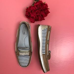 Sperry top-sider leather striped shoes size 7 M